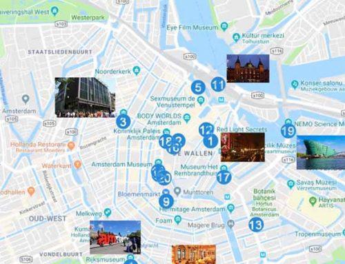 Amsterdam Gezilecek Yerler Haritası