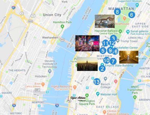 New York Gezilecek Yerler Haritası