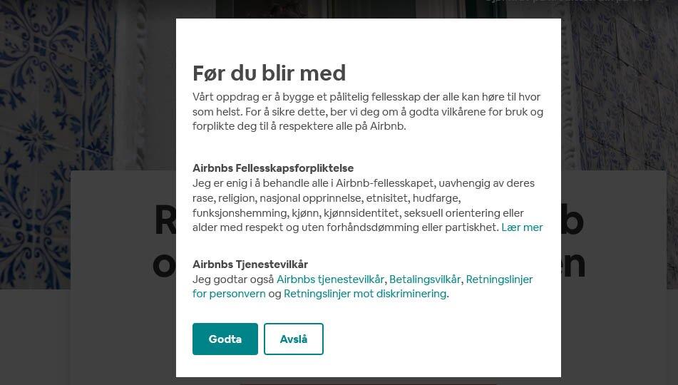 Airbnb ilk üyelik indirimi